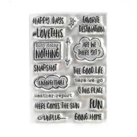 Elizabeth Craft Designs - Destination Phrases - clearstamps