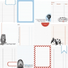 Teresa Collins - Stationery Noted - Journaling Cards
