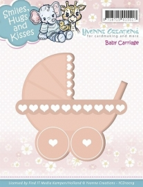 Yvonne Creations - Die - Smiles, Hugs and Kisses - Baby Carriage