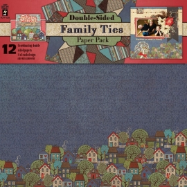 Hot Off The Press - Family Ties Double-Sided Paper Pack 30,5 x 30,5 cm