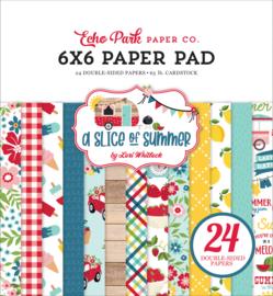 Echo Park -  A Slice Of Summer  - 6x6 Inch Paper Pad (SOS241023) 15,2 x 15,2 cm