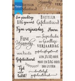 Marianne Design - Clearstamps - Teksten Felicitaties