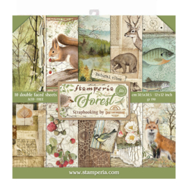 Stamperia Forest 12x12 Inch Paper Pack (SBBL63)
