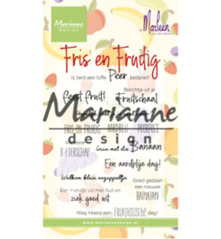 Marianne Design - Clearstamps - Teksten - Marleen's Fris & Fruitig