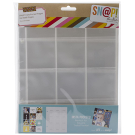 "Sn@p! Insta Pocket Pages For 6""X8"" Binders ,  2""x 2"" pockets, 10 stuks"