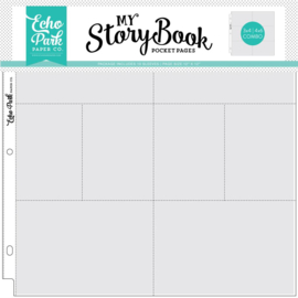 Echo Park 12x12 Inch Pocket Page - 4x6/3x4 Pockets (10 Sheets)