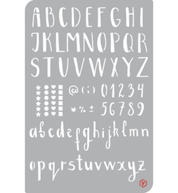 Pronty - Bullet Journal Stencil - Alphabet/Numbers