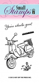 Hot Off The Press - Scooter Stamp
