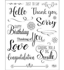 Viva Decor Clear Stamps – Just to say