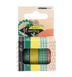 Studio Light - - Washi Tape, Sweet Flowers nr.07