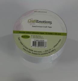 CraftEmotions - EasyConnect (dubbelzijdig klevend) Craft tape 15m x 35mm