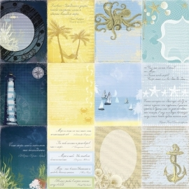 ScrapBerry's - Scrapbooking paper 30,5 x 30,5 cm dubbelzijdig - Seaside - Sea Legends