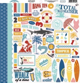 Carta Bella - Beach Boardwalk - Element Stickers 30,5 x 30,5 cm