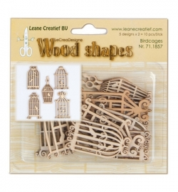 Leane Creatief - Wood Shapes - Birdcages
