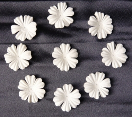 WILD ORCHID CRAFTS - MULBERRY PAPER BLOOMS - 20 stuks Wit 3 cm
