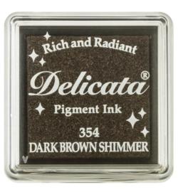 Delicata Small - Dark Brown Shimmer