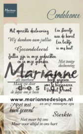 Marianne Design - Clear Stamps - Condoleance (NL)