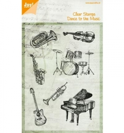 Joy!crafts - Clearstamps - Muziekinstrumenten