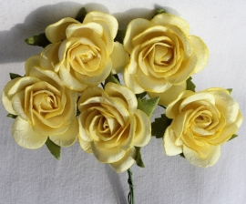 Trellis Roses - Yellow