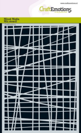 CraftEmotions - Mask stencil -  Lijnen  - ruit onregelmatig - A5