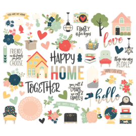 Simples Stories - So Happy Together - Bits & Pieces Die-Cuts 56 stuks