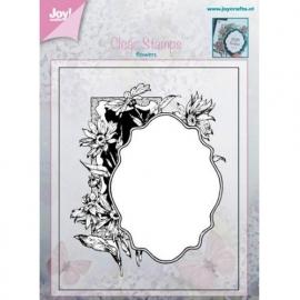 Joy!crafts - Clearstamp - Bloem met lijstje
