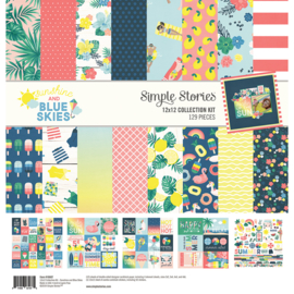 """Simple Stories Collection Kit 12""""X12"""" (30,5 x 30,5 cm) -Sunshine and Blue Skies"""