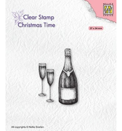 Nellie's Choice - clearstamp - Christmas time Happy New Year