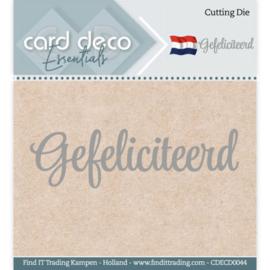Card Deco Essentials - Cutting Dies - Gefeliciteerd