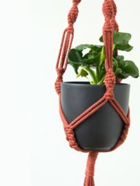 DIY pakket macramé plantenhanger roest