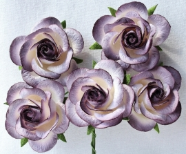 Trellis Roses - 2-tone Purple/White