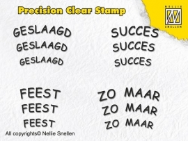 Nellie Snellen - Precision Clear Stamp - Dutch Texts - 4