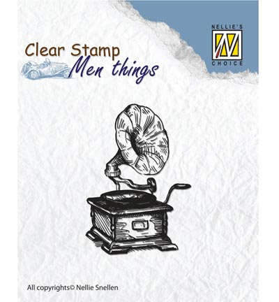 Nellie`s Choice - Clear Stamps - Men Things - Gramophone