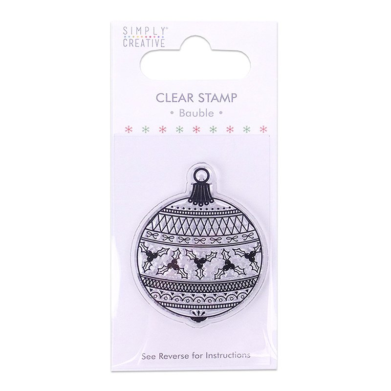 Simply Creative - Bauble - Clear Stamp
