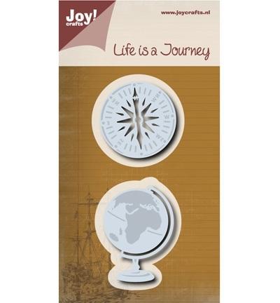 Joy!crafts - Cutting & Embossing stencil - Aardbol/Kompas
