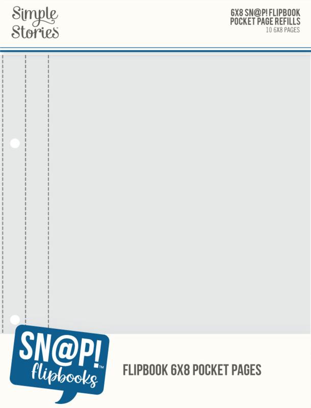 "Simple Stories - 6""x8"" Pack Refills 6""X8""SN@P! Flipbook Pages (10 stuks)"