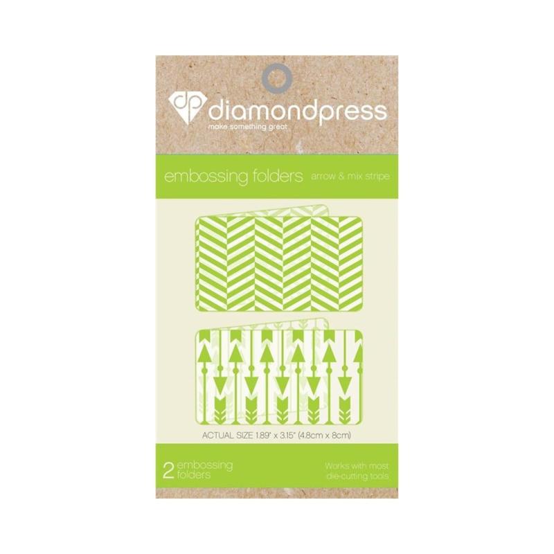 Diamond Press Embossing folder - Pijlen & Visgraat
