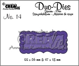 Crealies  - Duo Die no. 14 Duo Labels 1