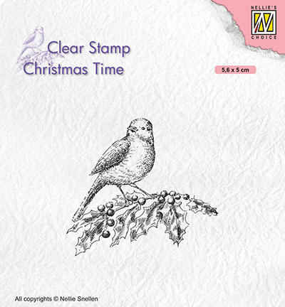 Nellie`s Choice - Clear Stamps - Bird on holy branch