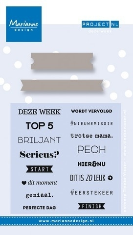 Marianne Design - Stempel & Stencil Project NL - Deze week