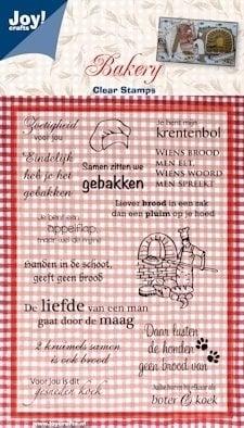 Joy!crafts - clearstamps Bakery 2 teksten NL