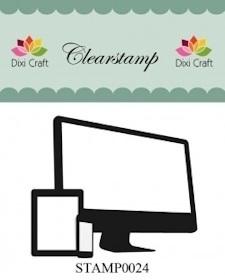 Dixi Craft - Clear Stamp - Computer