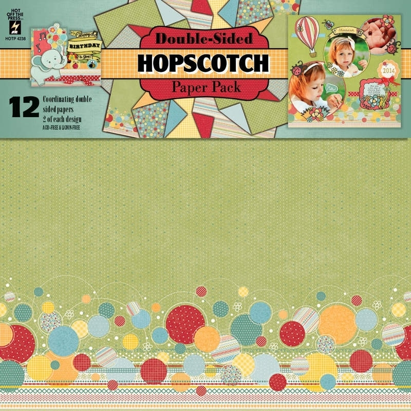 Hot Off The Press - Hopscotch  Double-Sided Paper Pack 30,5 x 30,5 cm