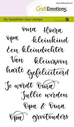 CraftEmotions - clearstamps A6 - handletter - Opa & Oma (NL) Carla Kamphuis