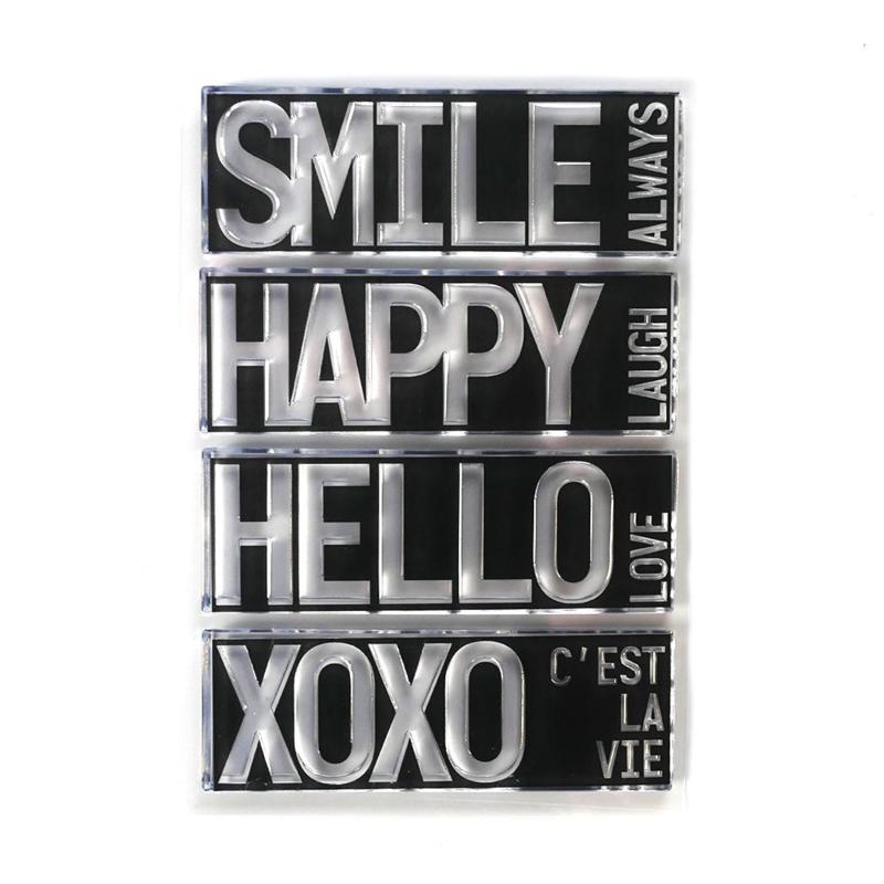 Elizabeth Craft Designs - Block Words - Hello - clearstamps