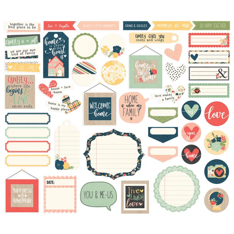 Simples Stories - So Happy Together - Journal Bits & Pieces Die-Cuts 49 stuks