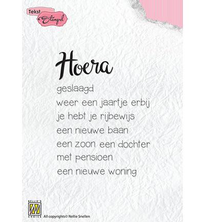 Nellie`s Choice - Clear Stamps - Hoera: diverse gelegenheden