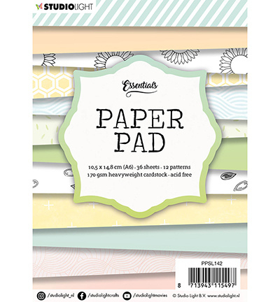Studio Light - Paper Pad Blok, nr.142 - A6 - 148x105mm