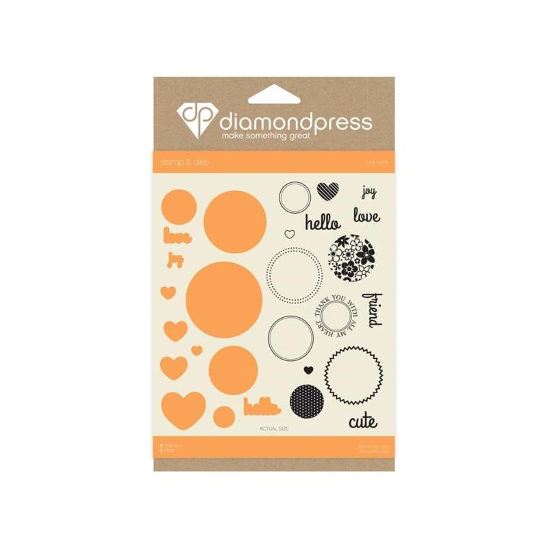 Diamond Press stempel en snijmal Set - Love today