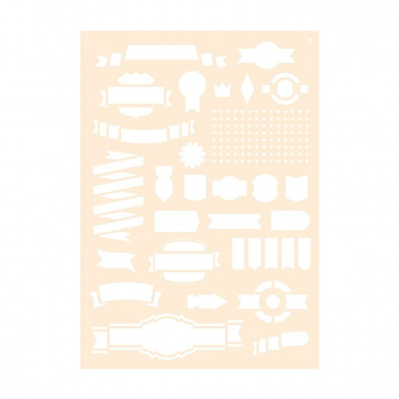 Joy!crafts - Polybesa Journalingstencil - Nr. 7